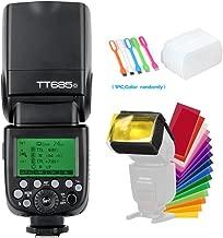 Godox TT685O TTL Camera Flash Speedlite Light High Speed Sync 1/8000s GN60 2.4G Compatible for Olympus Panasonic Camera & Diffuser & Filter & USB LED
