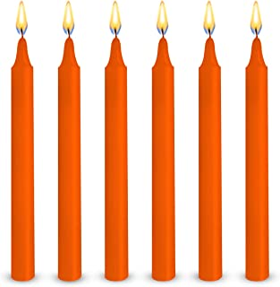 Exquizite 24 Orange Colored Spell Candles, Unscented 5