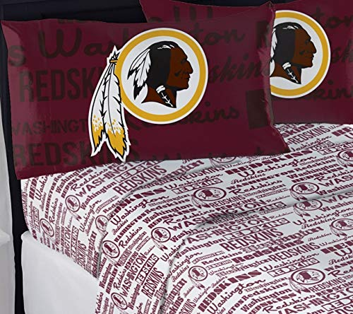 Northwest NFL Washington Redskins Full Sheet Set