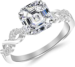 split shank asscher cut engagement ring