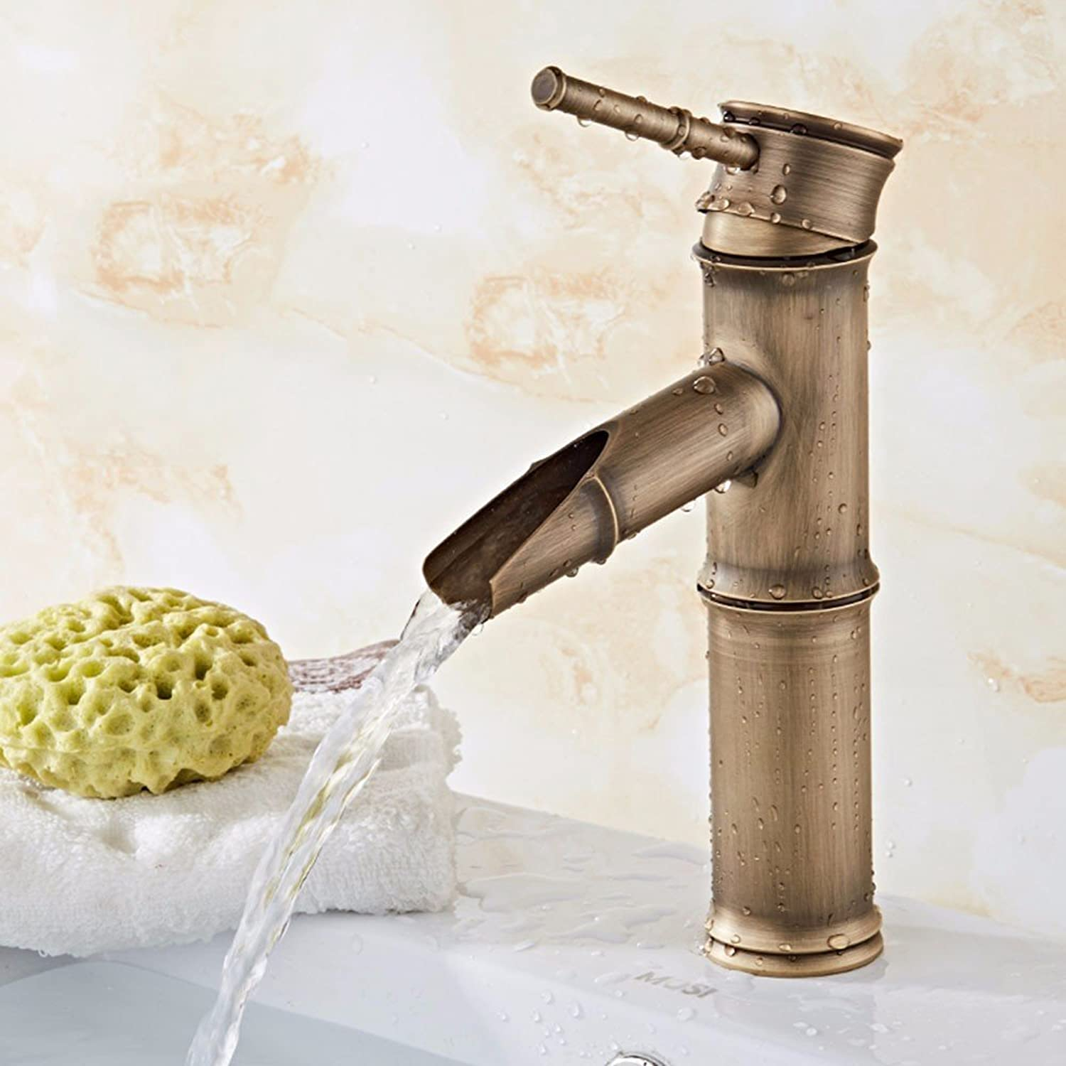 LHbox Basin Mixer Tap Bathroom Sink Faucet European retro style, copper, bathrooms, hot and cold, the basin and sink faucets, 2