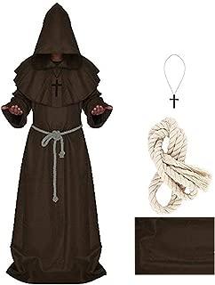 5 Color Pastor Cosplay Costume Medieval Renaissance Renaissance Halloween Equipment Monk Robe Male Monk Cape Cloak (S-XXL)