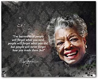 "Maya Angelou Quotes Wall Art, 8""x10"" Unframed Art Print - Stunning Inspirational Quotes Room Wall Decor"