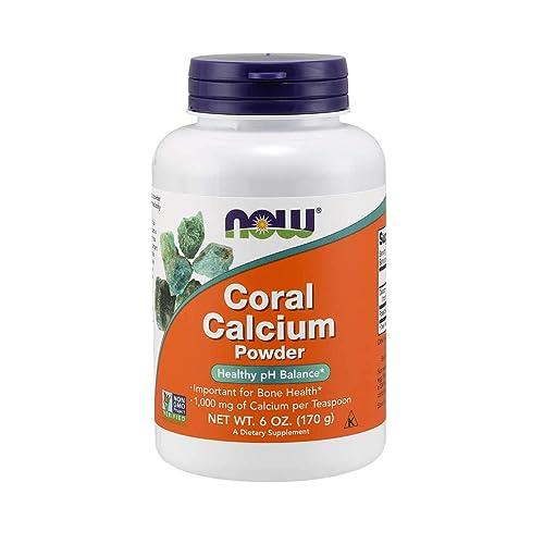 NOW Supplements, Coral Calcium Powder, Bone Health*, Healthy pH Balance*, 6-Ounce