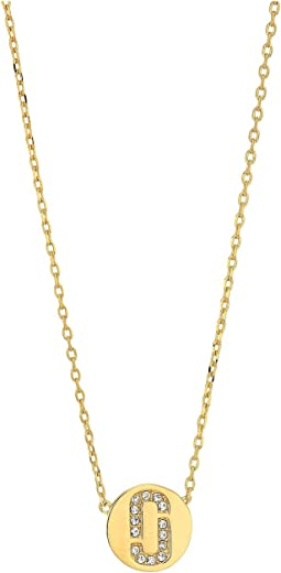 Marc Jacobs Double J Pendant Necklace