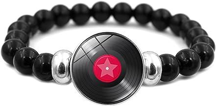 N/A Accessoires voor dames en heren Accessoires Vinyl Record Retro Grammofoon Record Tijd Edelsteen Kralen Armband Thanksg...