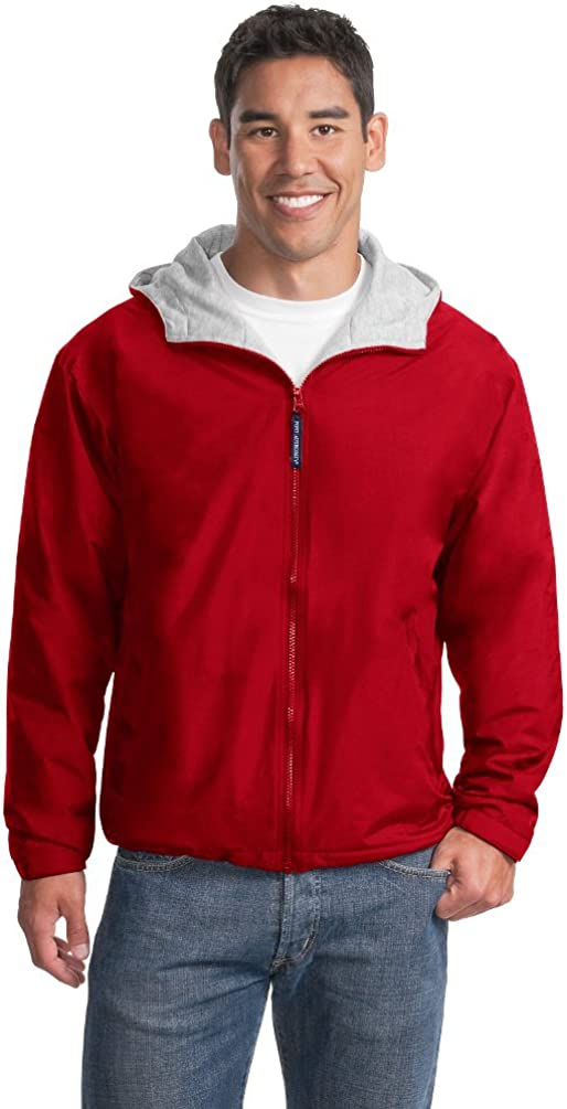 Port Authority Men's Polyester Team Jacket, M, Red/Light Oxford