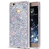 Huawei P9Lite Funda, Huawei P9Lite Cover, ikasus con lentejuelas Glitter Bling polvo 3d diamond paillette Slim con purpurina Flexible suave de goma carcasa de Gel TPU Carcasa para Huawei P9Lite, co