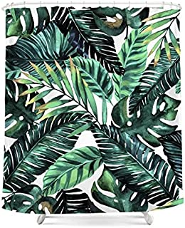 Ormis Tropical Palm Leaves, Printed Polyester Shower Curtain, Shower Curtain, Waterproof mouldproof Hook 72 x 72 Company