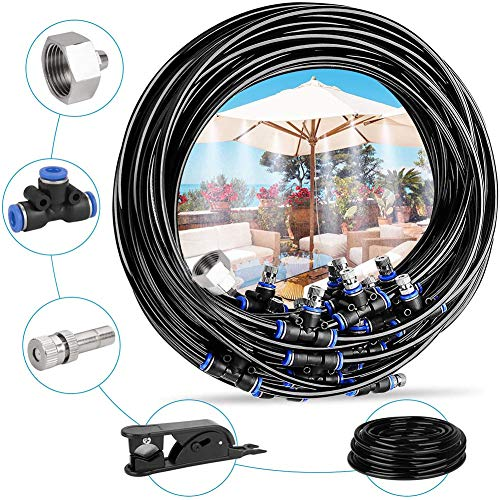 49 Feet Long Trampoline Sprinkler- Fun Summer Trampoline Waterpark Heavy Duty Sprinkler Hose Made to Attach On Protective Net Enclosure for Outdoor Water Game Toys Accessories