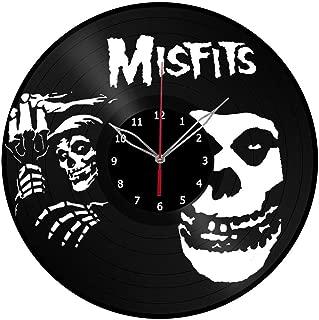 Misfits Vinyl Record Wall Clock Misfits Handmade Wall Art Misfits Home Decor Misfits Wall Clock