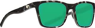 Costa Del Mar Panga Sunglasses Matte Gray Tortoise 580P Green Mirror Plastic Lens