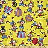 Lunarable Zirkusstoff von The Yard, Clown-Muster mit