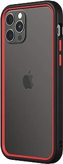 RhinoShield バンパーケース [iPhone 12/12 Pro] | CrashGuard NX - 衝撃吸収スリムデザイン保護カバー 3.5m / 11フィート 落下保護 - ブラック/レッド