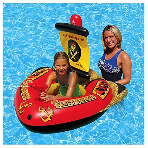 MRWJ Babyboot Schwimmsitz Schwimmring Aufblasbares Schwimmfloß Wasser Auto Boje Aufblasbarer Sitz Schwimmbad für Kinder mit Sonnenblende, grün-117 * 72cm