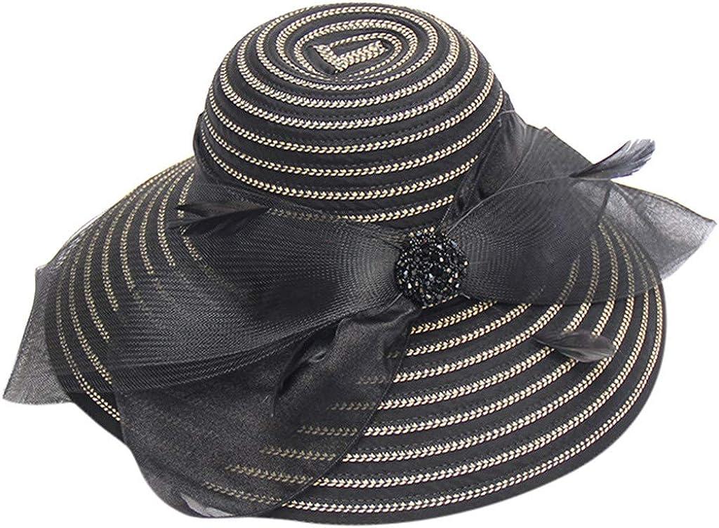 Tianwen Lady's Organza Church Kentucky Derby Fascinator Bridal Tea Party Wedding Hat Bow Bucket Wedding Bowler Hats