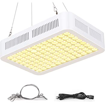 600W Grow Light, Roleadro LED Grow Light White for Indoor Plant, Full Spectrum Plant Light 3500k Sunlike with Dual-Chip Adjustable Rope, Daisy Chain with ON/Off Switch for Seedings Veg Micro Green