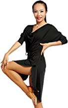 G1007 Latin Ballroom Dance Professional Loose Version Swing Design Daily Practice Dress(Note: Contains a Simple Belt)