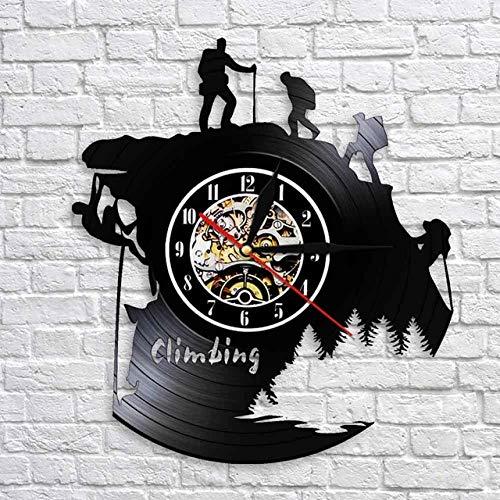 CNLSZM Klettern 3D Acryl Kunst Uhr Schallplatte Uhr Antiken Stil Große Dekorative Wanduhren Quarzuhr Mechanismus Nadel @ Keine LED
