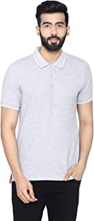 Bongio Men's Polo - Neck Half Sleeve Casual T-Shirt - Light Grey