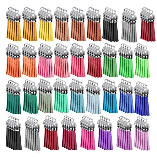 Beada 140pcs borla llavero conjunto a granel para DIY cuero colgantes llavero acrílico joyería accesorios
