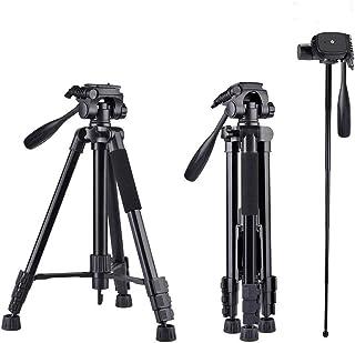160cm Trípode Cámara 5 en 1 Aluminio Trípode para Cámara Ajustable 4 Secciones Patas con Rótula de Bola 360 Grados Universal para Canon Nikon Sony y Teléfono