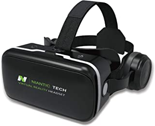 VR Headset for iPhone and Android Phone   VR Goggles   Virtual Reality Headset with Headphones   Niantic Tech NTVR-G04E