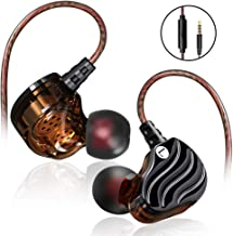 Running Earbuds, Quad Earbuds Wired, SXGINBT Cool Earbuds with Microphone, Sport Music Bass Headphones for PSP 5S 6S S7 S8 S9 S10(Black)