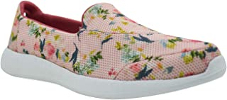 KazarMax Women's Pink Floral Slipon's Walking Sneakers(Size : 40)