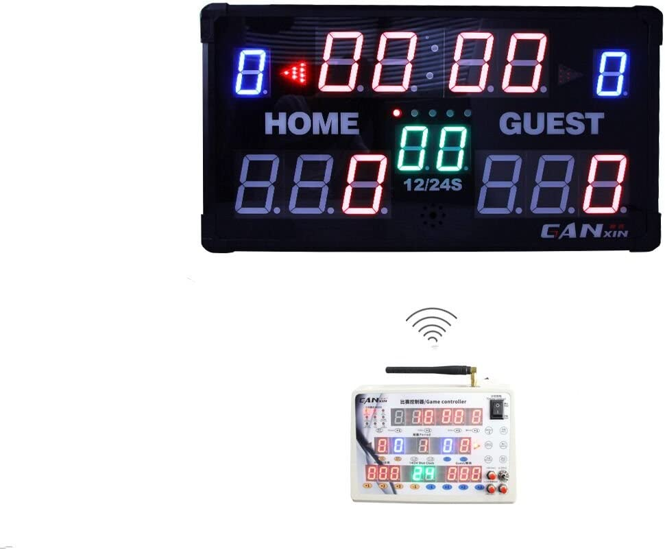 ganxin LED marcador–marcador de mesa interior electrónico con mando a distancia incluido para baloncesto, de béisbol bádminton juego de fútbol