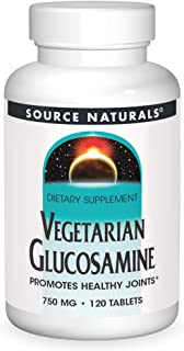 Source Naturals Vegetarian Glucosamine, Promotes Healthy Joints 750 Mg Tablet - 120 Count