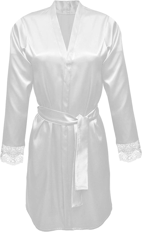 DKaren Women Gina Soft Light Ecru Dressing Gown
