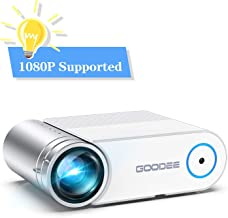 """Projector, GooDee 2020 Upgrade G500 Mini Video Projector, Max 200"""" Portable Movie Projector with Carry Bag, Home Theater Projector Support 1080P, Compatible with Fire Stick, PS4, Phone"""
