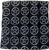 Photo de Bandana Noir Pentagram Devil Diable 666 Satan Hard Rock Metal Punk par
