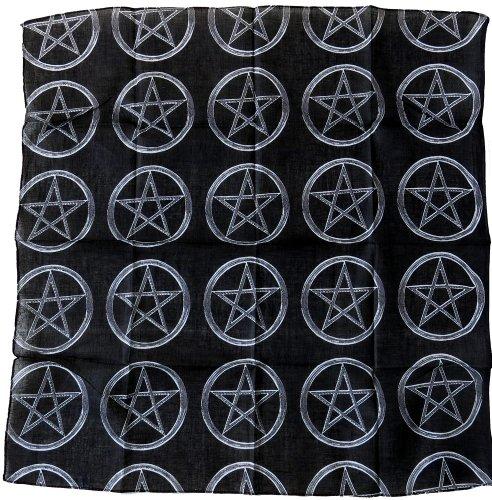 bandana tete de mort noir us pirate biker homme femme moto sport biker airsoft 55x55cm coton (noir 55)