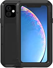 Simicoo iPhone 11 Pro Max Aluminum Alloy Metal Bumper Silicone Case Hybrid Military Shockproof Heavy Duty Armor Defender Tough Built-in Gorilla Glass Cover for iPhone 11 Pro Max (Black)