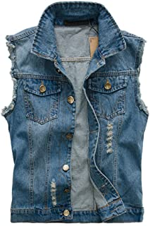 Mens Top Designed Jacket Outerwear Tops Blazer Casual Slim Fit Skinny Dress Cowboy Denim Vest Waistcoat Jean Gilets