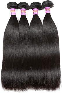 (10 10 10 10, Straight) - RN BEAUTY Brazilian Straight Virgin Hair 4 Bundles Deals 8A Unprocessed Remy Hair Mink Good Chea...