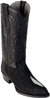 Men's J-Toe Genuine Leather Stingray Skin Western Boots