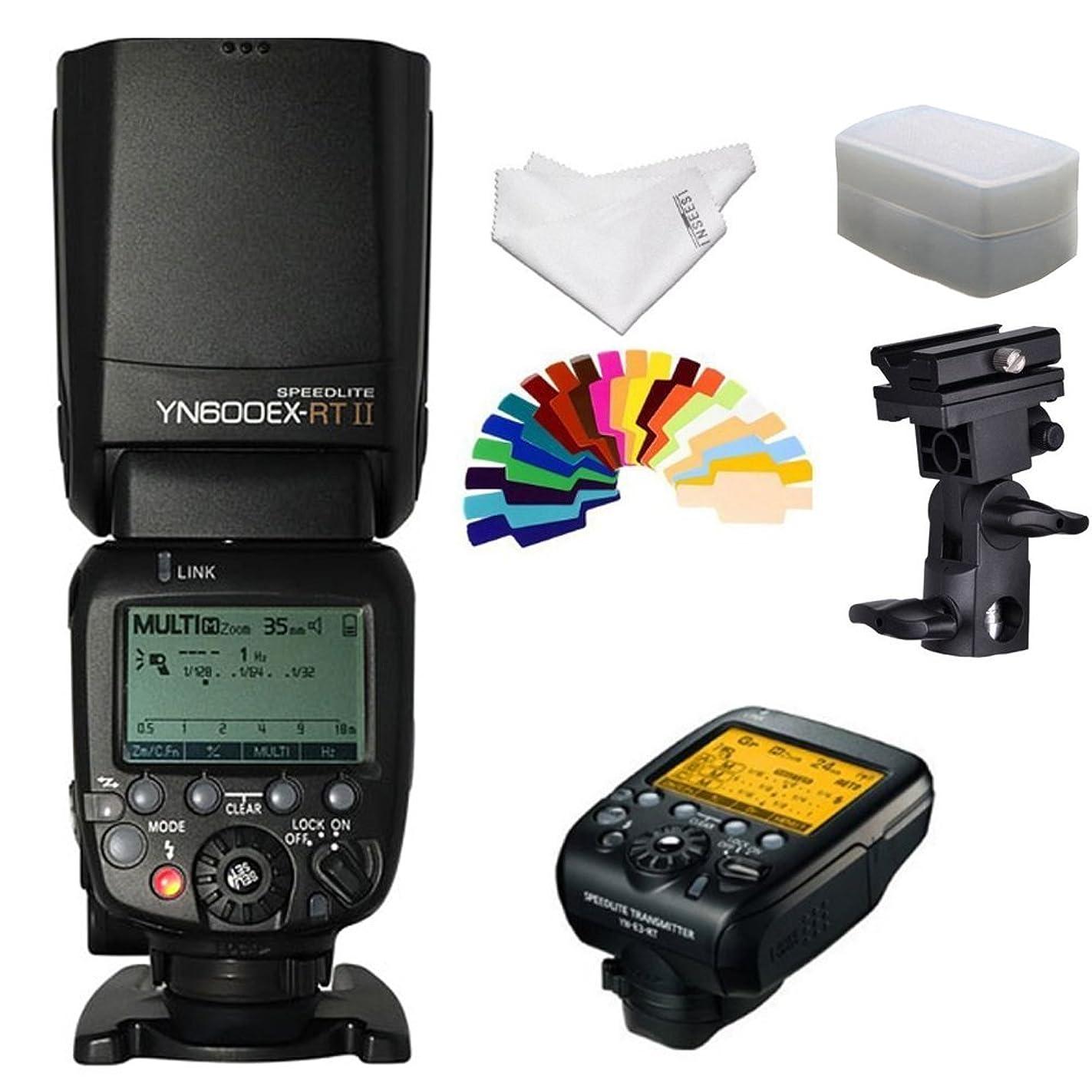 YONGNUO YN600EX-RT II Flash Speedlite +YNE3-RT Flash Controller for Canon Cameras +INSEESI Clean Cloth+Flash Diffuser+B Type Flash Swivel Bracket +20 Color Gels reu23119285