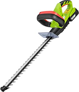 """VIVOSUN 20V Cordless Hedge Trimmer, 20-inch Dual-Action Laser Blade, 3/5"""" Cutting Capacity, 1400 RPM, 2.0Ah Li-ion Battery, Lightweight & Compact Trimmer, Gardening Hand Pruner Included"""