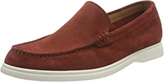BOSS Mens Sienne Mocc Suede Moccasins with Contrast Sole Size