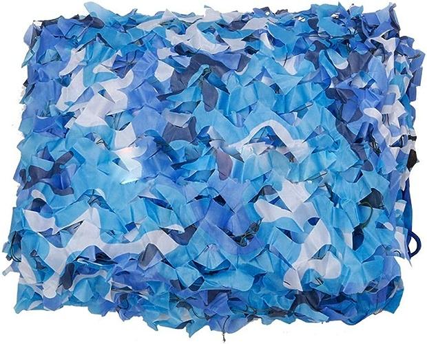 DGLIYJ Filet de Camouflage Durable léger d'ombre de décoration de Camping de Filet Bleu de Camping (Taille   6x8m)