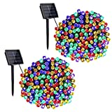 Toodour Solar String Lights, 2 Packs 72ft 200 LED 8 Modes Outdoor String Lights,...