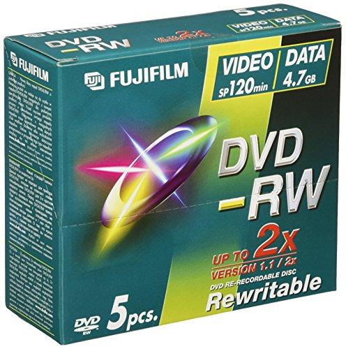 Fujifilm DVD-RW 4.7GB - Confezione da 5