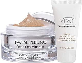ژل لایه برداری صورت Vivo Per Lei | حاوی مواد معدنی دریای مروارید و پودر پوسته مهره | اسکراب ماسک صورت و سیاه چسبنده | پوست خود را به پوست تازه تر برسانید 1.7 فلو اوز