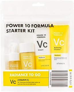 It'S SKIN Power 10 Formula VC Starter Trial Kit (Foam Cleanser 1.18 oz. + Toner 1.75 oz. + Effector Serum 0.4 oz. + Cream ...