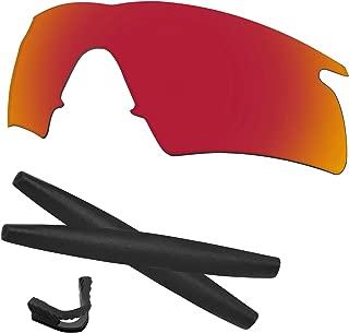 Predrox M Frame Hybrid Lenses & Rubber Kits Replacement for Oakley Polarized
