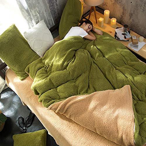 Kids Double Duvet Covers Set, Winter Duvet Cover Set Bedding Set 4Pcs Cosy Thick Quilt Cover Sets