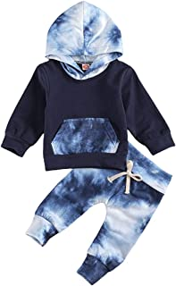 Sponsored Ad - Baby Newborn Boys Girls Outfits Tie-Dye Fall Winter Clothes Infant Hoodie Long Sleeve Sweatshirts & Pants S...